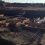 October 16 - elevator forms and rebar