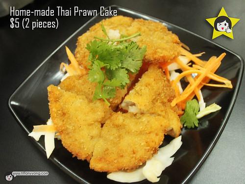 home made thai prawn cake