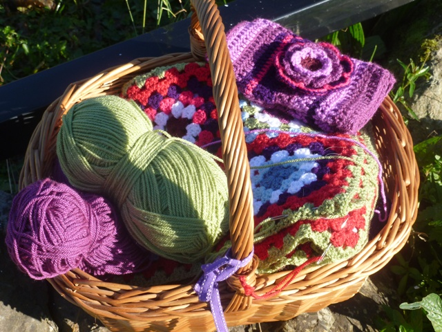 A basket of crochet