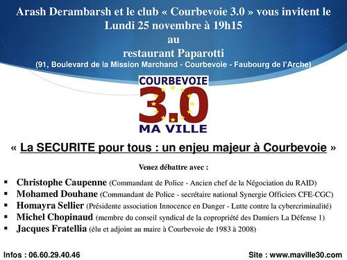 Débat Courbevoie 3.0 sur la Sécurité (lundi 25 novembre 19h15) - Arash Derambarsh by Arash Derambarsh