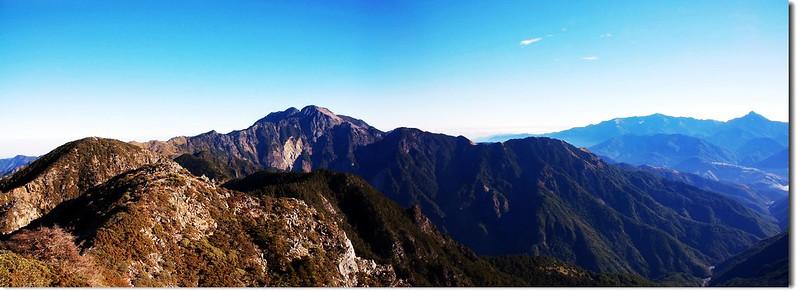 雪山、南湖中央尖(From 大劍山頂)