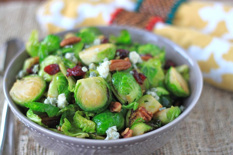 sauteed brussels sprout, cranberry, pecan, and blue cheese salad ...