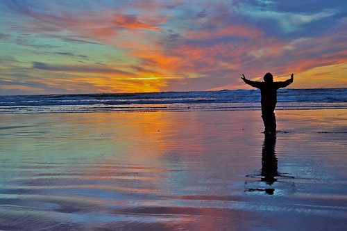 Qigong at sunset | by K. Kendall