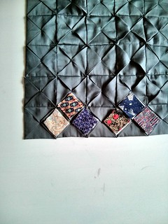 Cathedral block memory quilt WIP