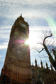 Soleil sur Big Ben
