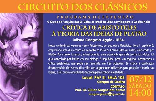Circuito dos Clássicos : Crítica de Aristóteles à Teoria das Ideias de Platão by projetoex-votosdobrasil