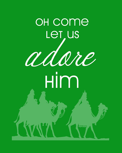 Oh Come Let Us Adore Him Free Christmas Printable