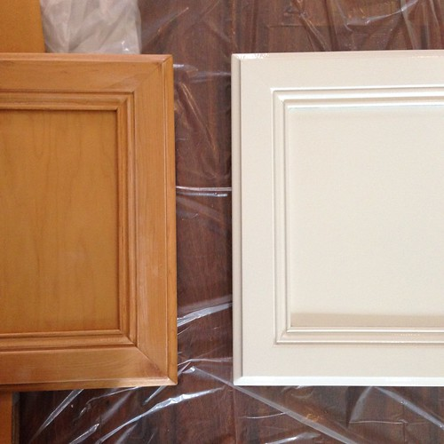 cabinet doors before/after