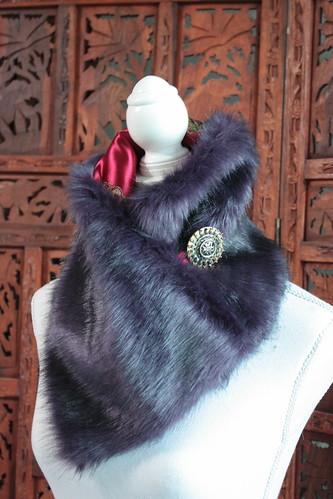 Col-écharpe violet
