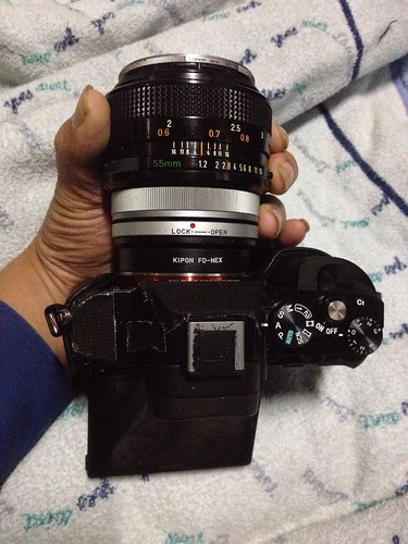 CanonFD55mmF1.2SSC + alpha 7r