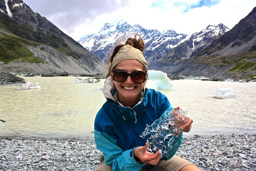 Glacier in front of Mt. Cook
