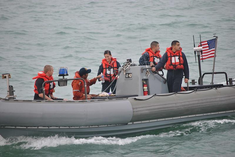 USS Spruance Sailors Rescue Mariner