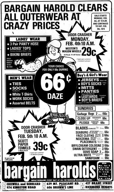 New Mobile Home Prices >> Vintage Ad: Bargain Harold's Crazy Outerwear Prices | Flickr - Photo Sharing!