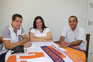 Aline Paganotti, de Guaianases, em visita ao Solidariedade Estadual-SP