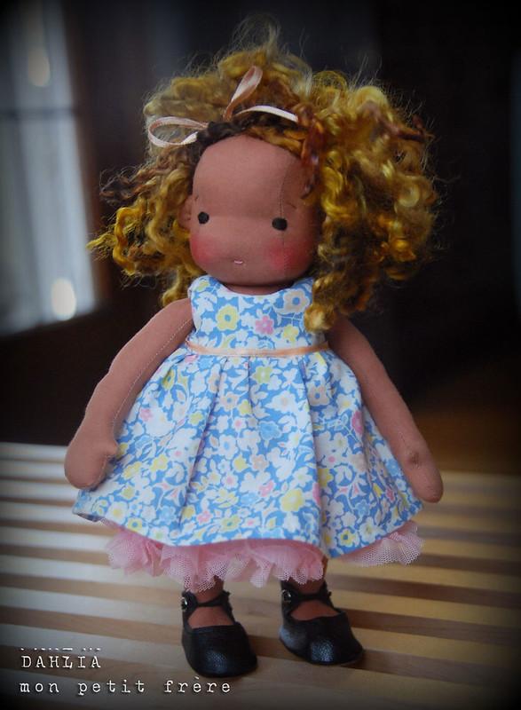 "Dahlia- 8.5"" handmade doll by Mon Petit Frère"