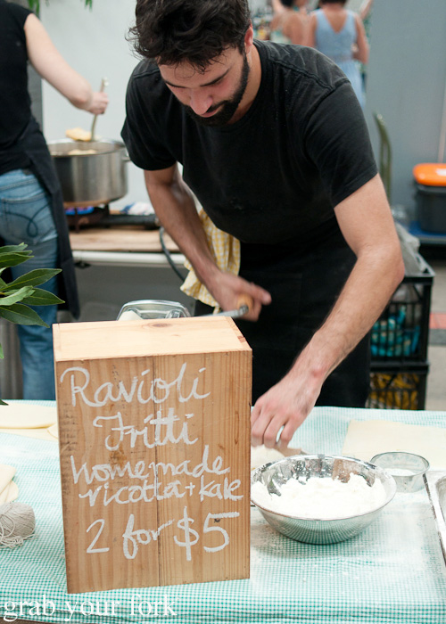 Ravioli fritti by Full Circle at the Sunday Marketplace, Rootstock Sydney 2014