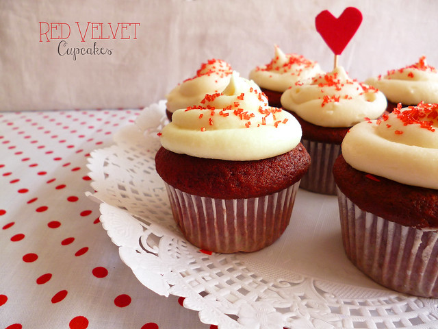 Raspberry Bloom: Red Velvet Cupcakes
