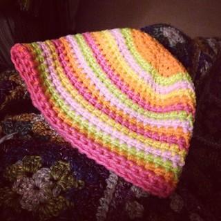 Amelie's completed hat. Perfect :) #myboshi #crochet