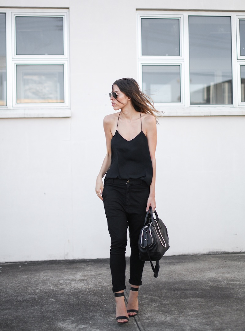 modern legacy fashion personal style blog australia street bassike camilla and marc all black tibi heels alexander wang jamie chain tote bag workwear (1 of 10)