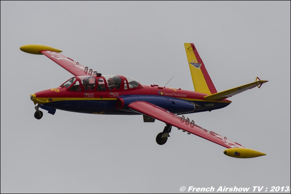 Fouga Magister tranchant,Salon du Bourget 2013,Paris Airshow 2013