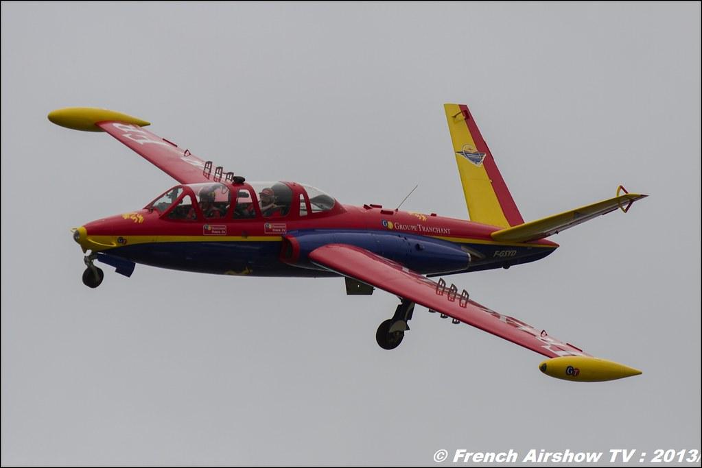 Fouga Magister tranchant,Salon du Bourget 2013,Paris Airshow 2013
