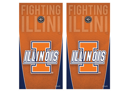 Illinois Cornhole Game Decal Set