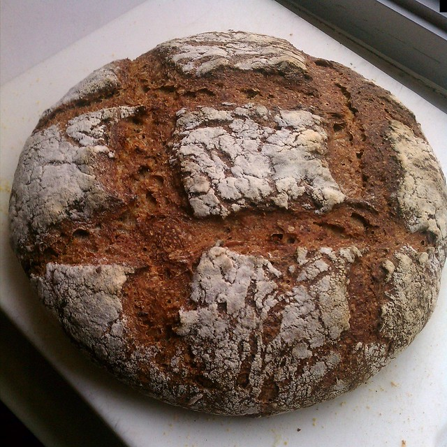 sourdough rye sunflower seed bread