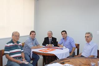 Rubens Nakano, pré-candidato a deputado federal, se reúne com Paulinho da Força e David Martins