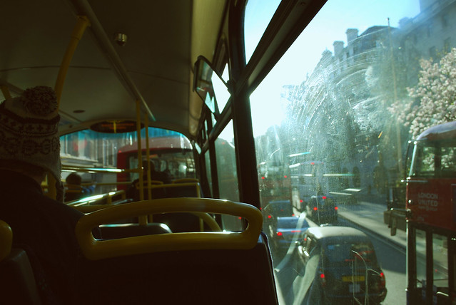 summer london bus