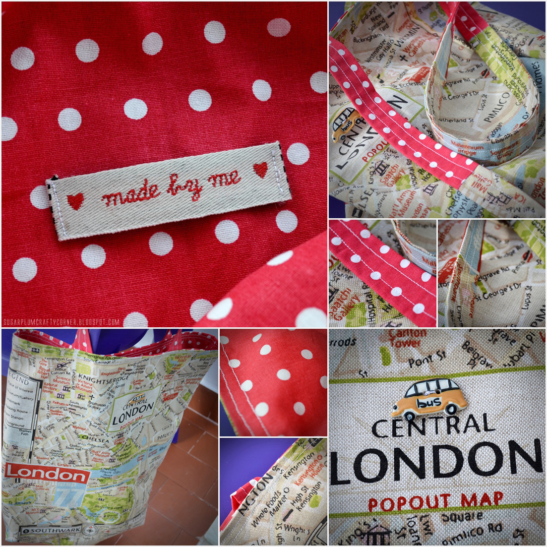 London Totebag: My First Sewing Project