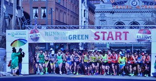 Running Of The Green 7K Starting Line