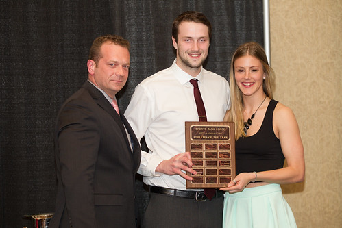 STF Athletes of the Year 2013-14 Brad Gunter and Alanna Bekkering presented by Matt Milovick (Apr 3, 2014 Snucins)