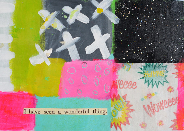 DIY Postcard: I have seen a wonderful thing