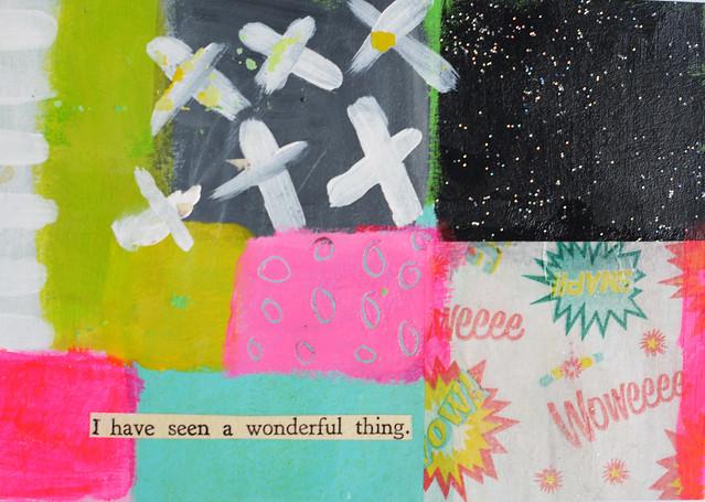 DIY Postcard: I have seen a wonderful thing