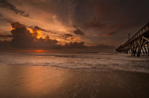 ocean beach sc sunrise nikon south atlantic carolina hdr surfside d5000