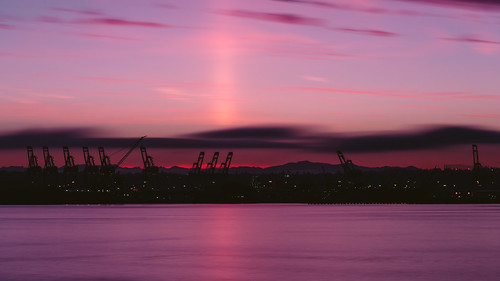 sunrise seattle cranes longexposure pacificnorthwest sky water reflection silhouettes purple canoneos5dmarkiii bwnd1000x washington johnwestrock