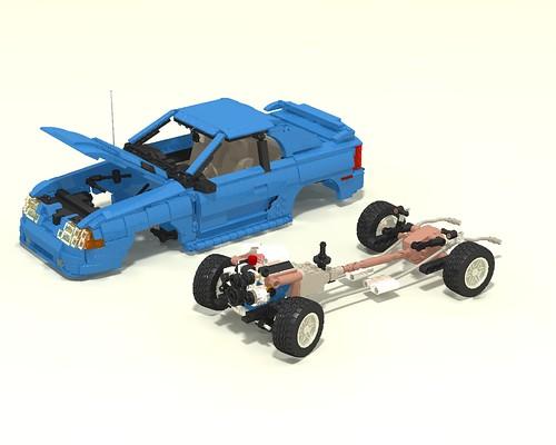 1994 Mustang GT drivetrain