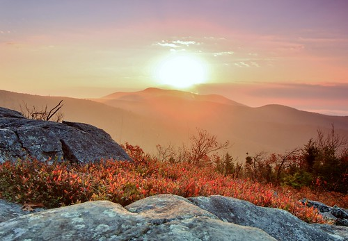 new autumn trees mist mountain mountains fall sunrise haze october mt oct nh hampshire mount roberts shrub hazy range shrubs 2014 ossipee