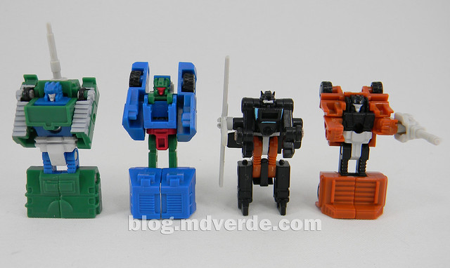 Transformers Micromaster Military Patrol (Bombshock, Tracer, Dropshot, Growl) - Transformers G1 Micromasters - modo robots