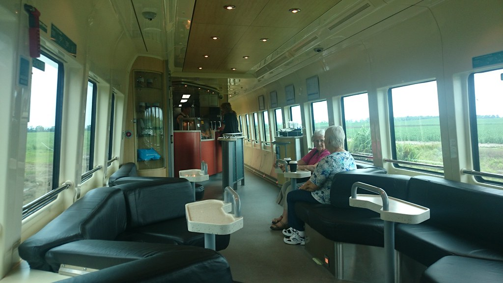 Club Car On Spirit Of Queensland Train Somewhere South Of