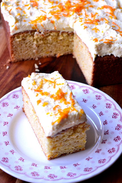 Recipe for Orange Spice Traybake