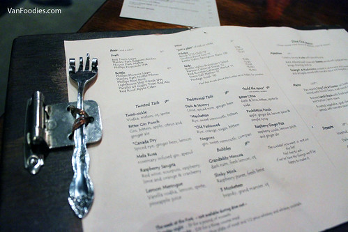Twisted Fork Bistro Menu