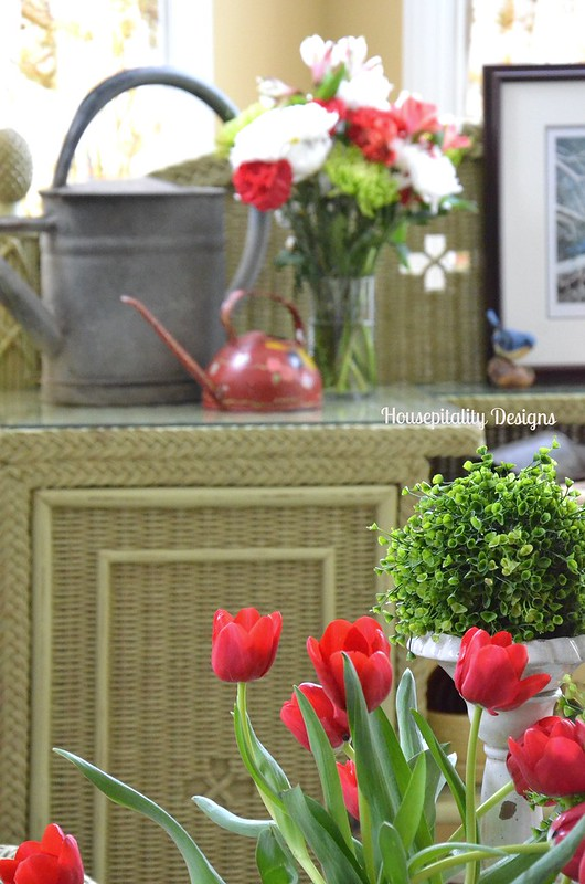 Sunroom flowers-Housepitality Designs