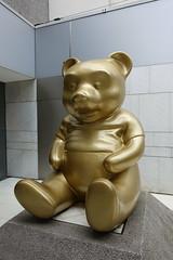 Golden bear statue @ Patio @ Champs Elysée @ Paris