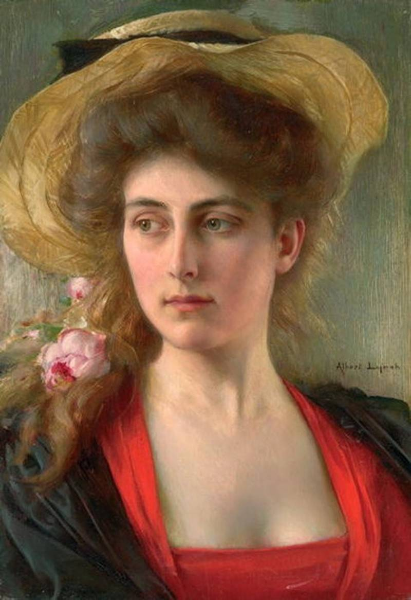 Portrait of a Young Woman by Albert Lynch