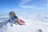 Kaukasus, Elbrus-Besteigung. Auf dem Hauptgipfel, 5642 m. Foto: Günther Härter.