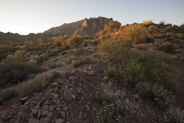 Sunrise on Superstition moutains