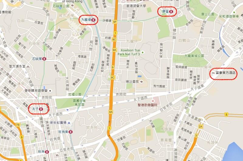富豪東方酒店地圖