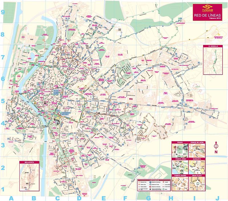 Mapa Transporte Publico Sevilha