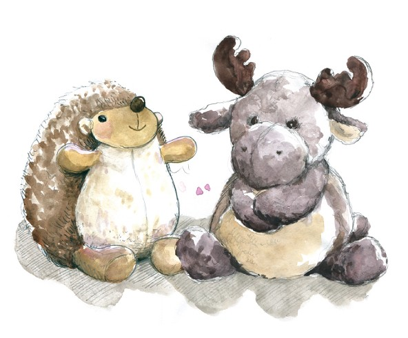 hedgehog and moose